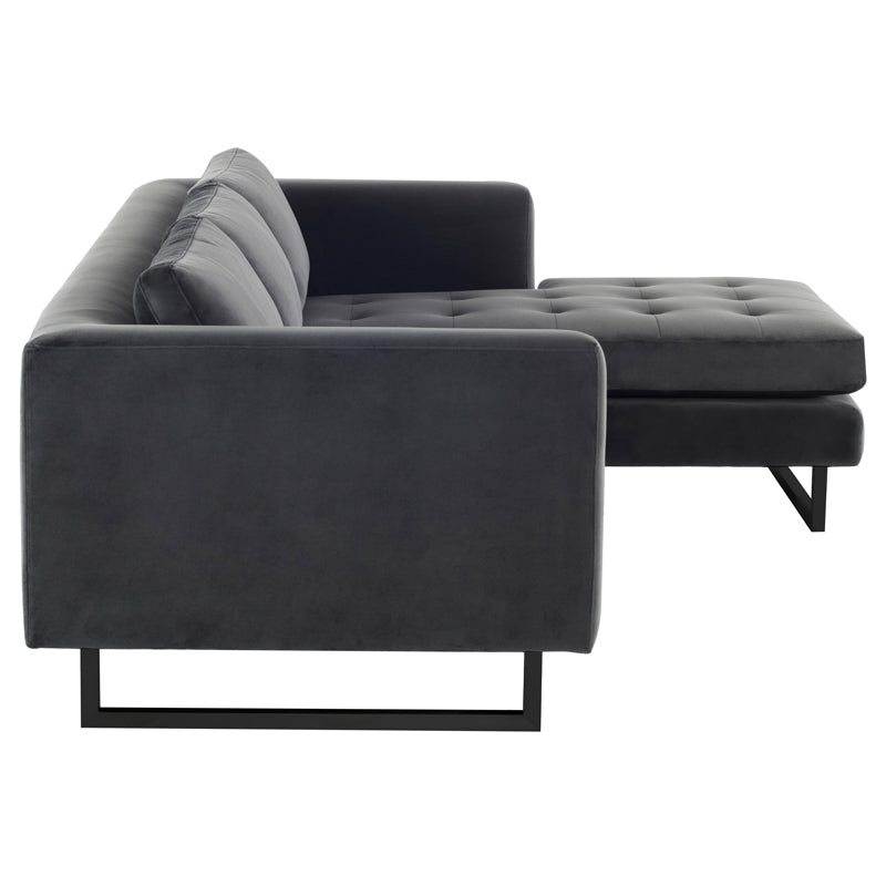 Matthew Shadow Grey Fabric Sectional Sofa