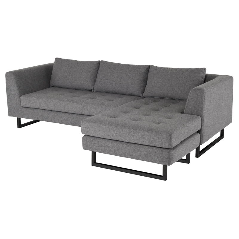 Matthew Shale Grey Fabric Sectional Sofa