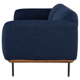 Benson True Blue Fabric Triple Seat Sofa