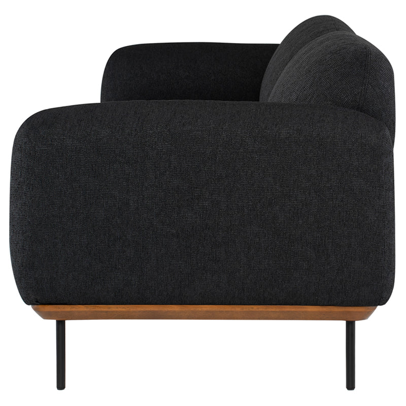 Benson Activated Charcoal Fabric Triple Seat Sofa