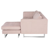Matthew Mauve Fabric Sectional Sofa