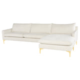 Anders Coconut Fabric Sectional Sofa