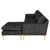 Anders Salt & Pepper Fabric Sectional Sofa