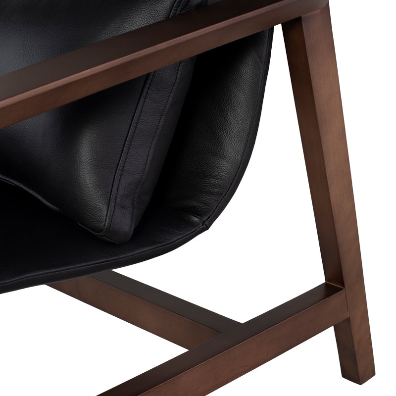 Bethany Black Leather Occasional Chair