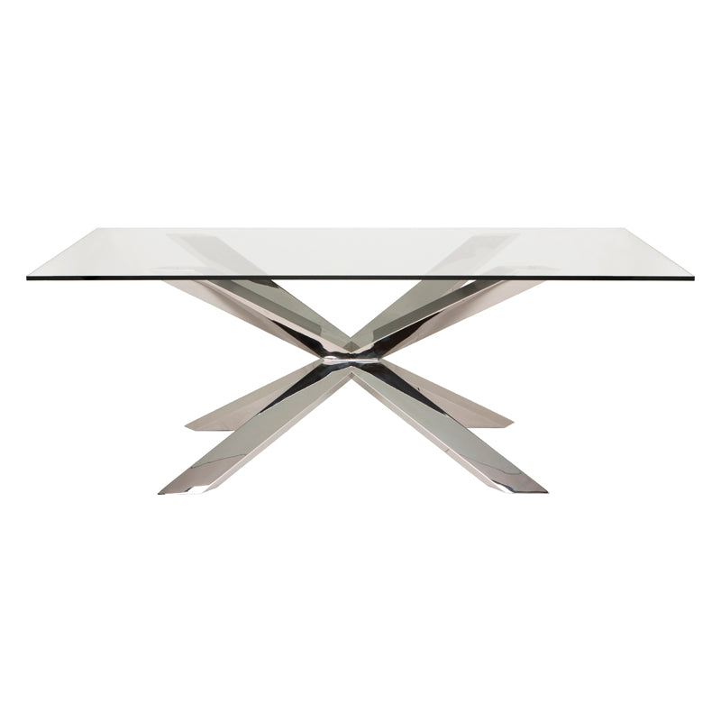 Couture Glass Glass Dining Table