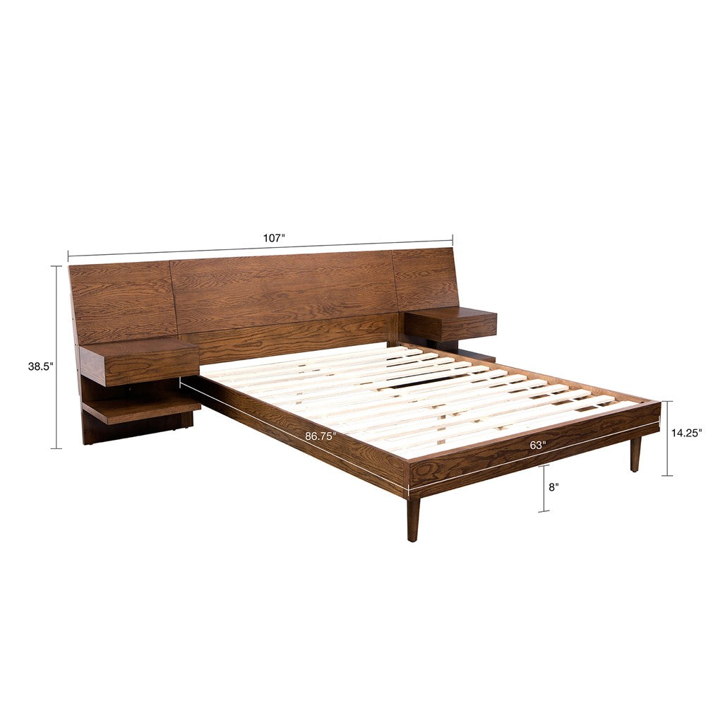 Clark king Bed with 2 nighstand