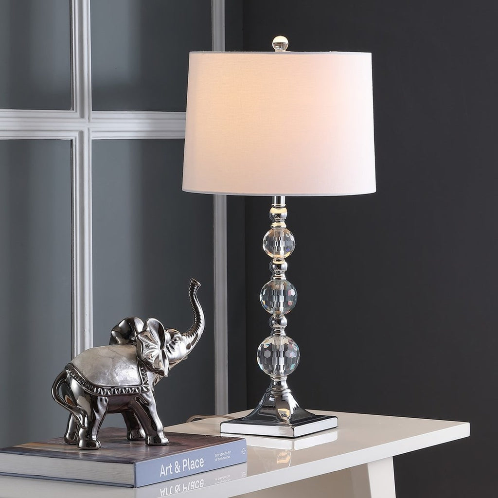 Maeve 28-Inch H Crystal Ball Lamp