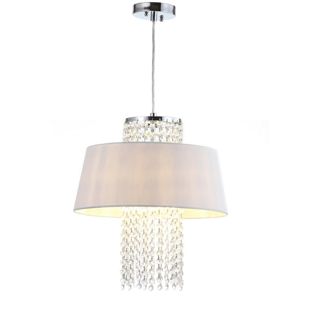 Cadenza 3 Light Chrome Beaded 16-Inch Dia Pendant