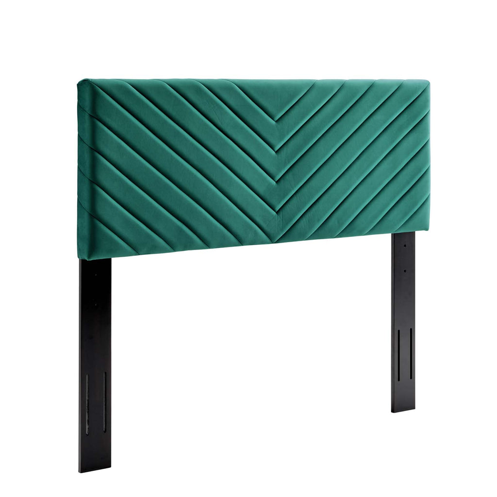 Alyson Angular Channel Tufted Performance Velvet King / California King Headboard
