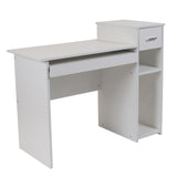 Highland Park Computer Desk with Shelves and Drawer