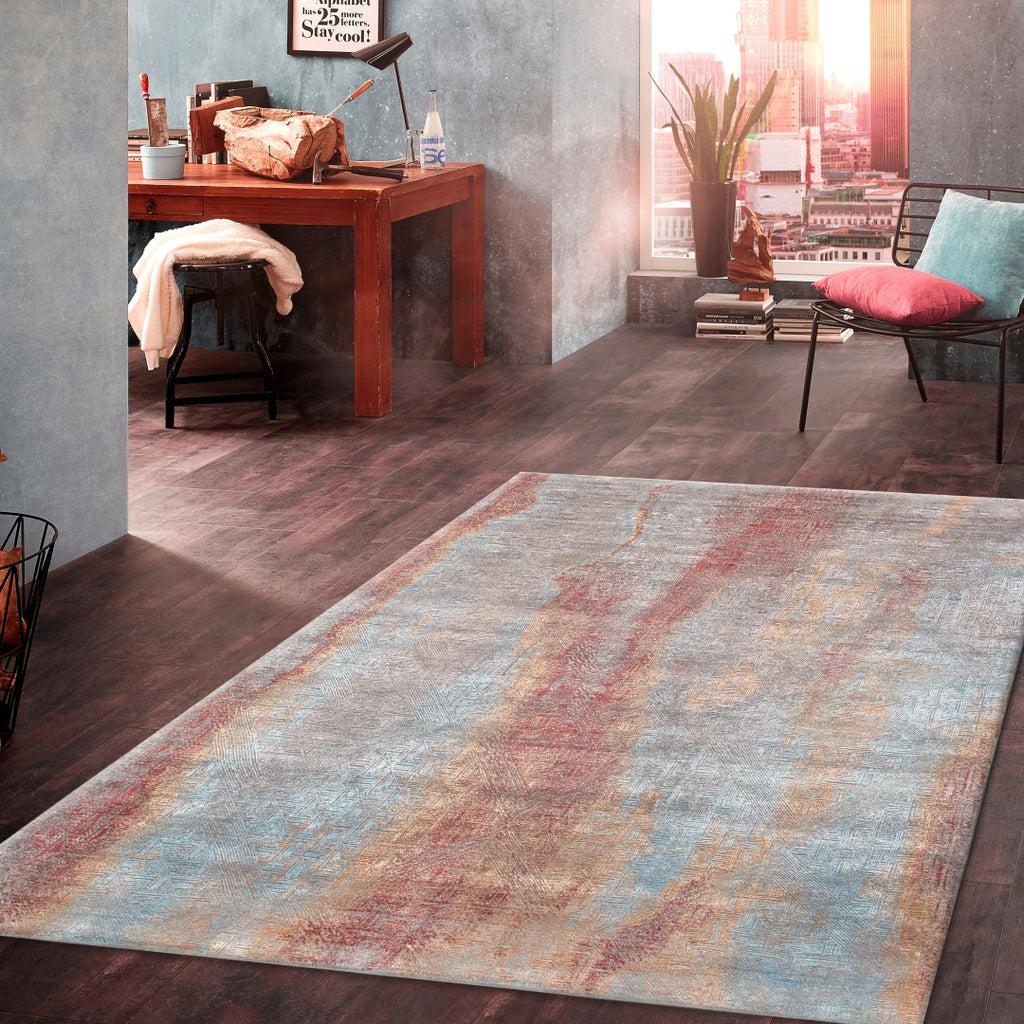 "Pasargad Home Cosmo Collection Hand-Knotted Silk and Wool Area Rug-10' 1"" X 14' 2"""