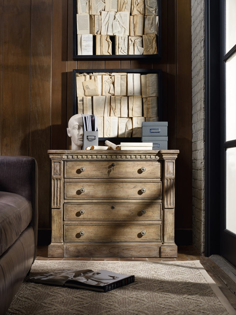 Hooker Furniture Sorella Traditional-Formal Lateral File in Hardwood Solids and Hickory Veneers with Resin 5107-10466