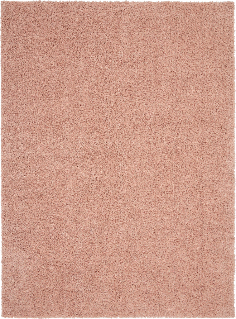 Malibu Shag MSG01 Power-loomed 100% Polypropylene Blush 9' x 12' Rectangle Rug