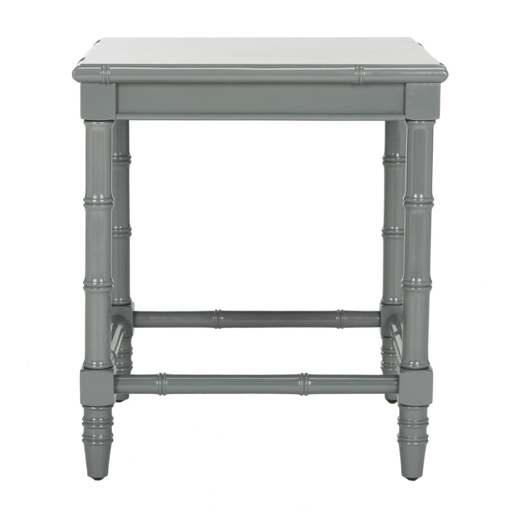 "Safavieh Liviah Accent Table Modern Coastal 22""H Bamboo Grey Wood NC Coating MDF ACC3500C 889048339644"
