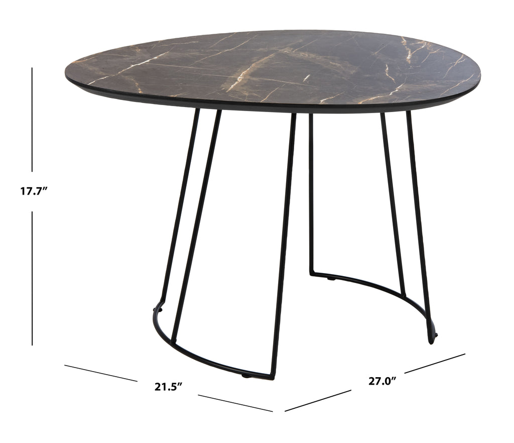 Safavieh Brooks Side Table in Grey and Black ACC4200A 889048767034