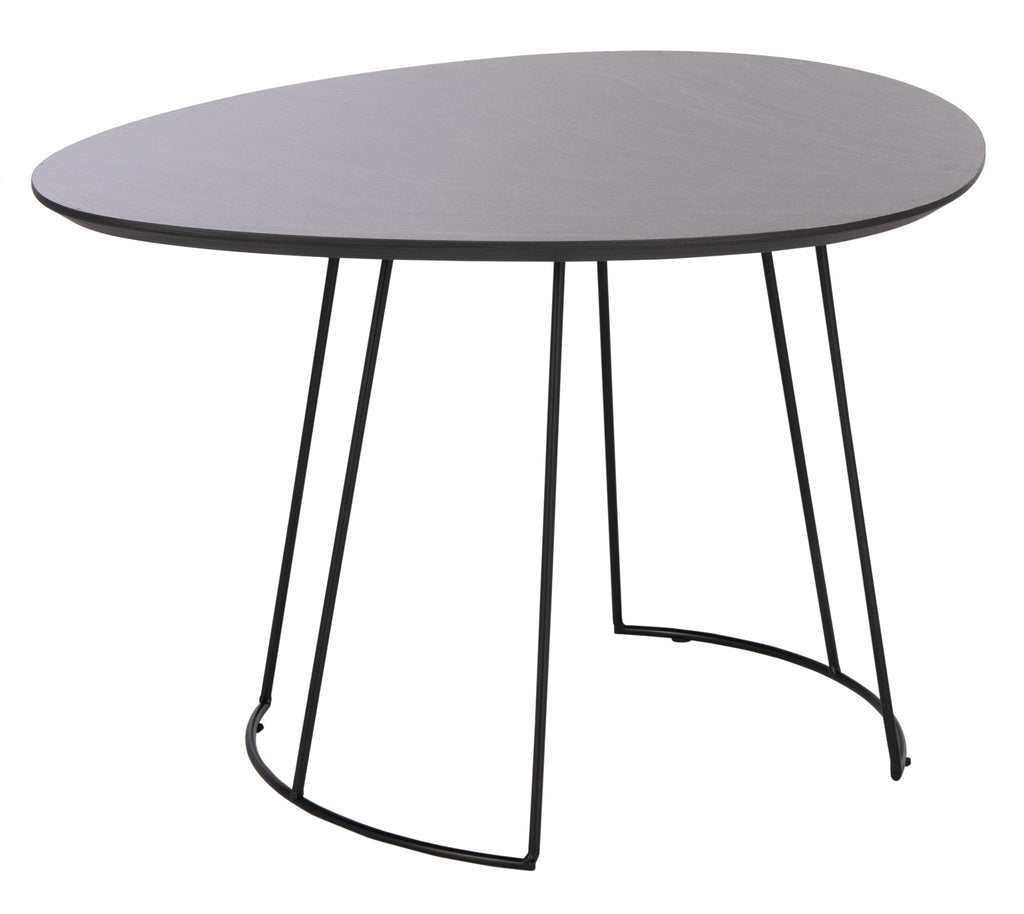 Safavieh Brooks Side Table in Dark Grey and Black ACC4200B 889048767041
