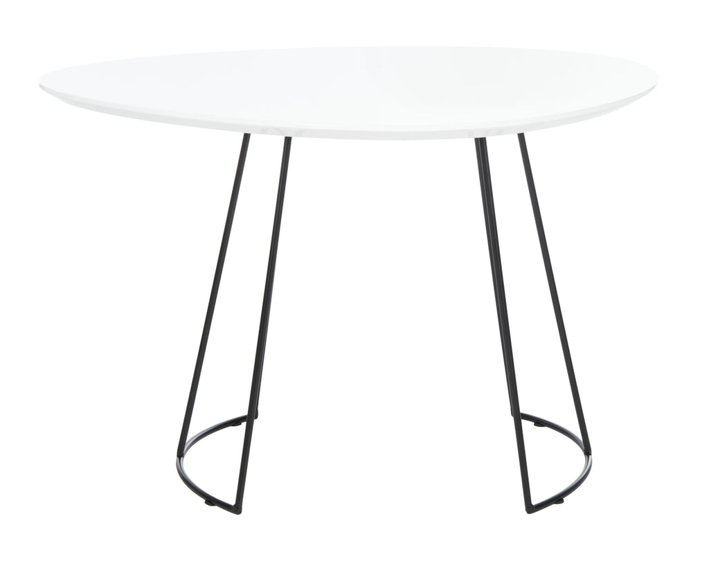 Safavieh Brooks Side Table in White and Black ACC4200C 889048767058