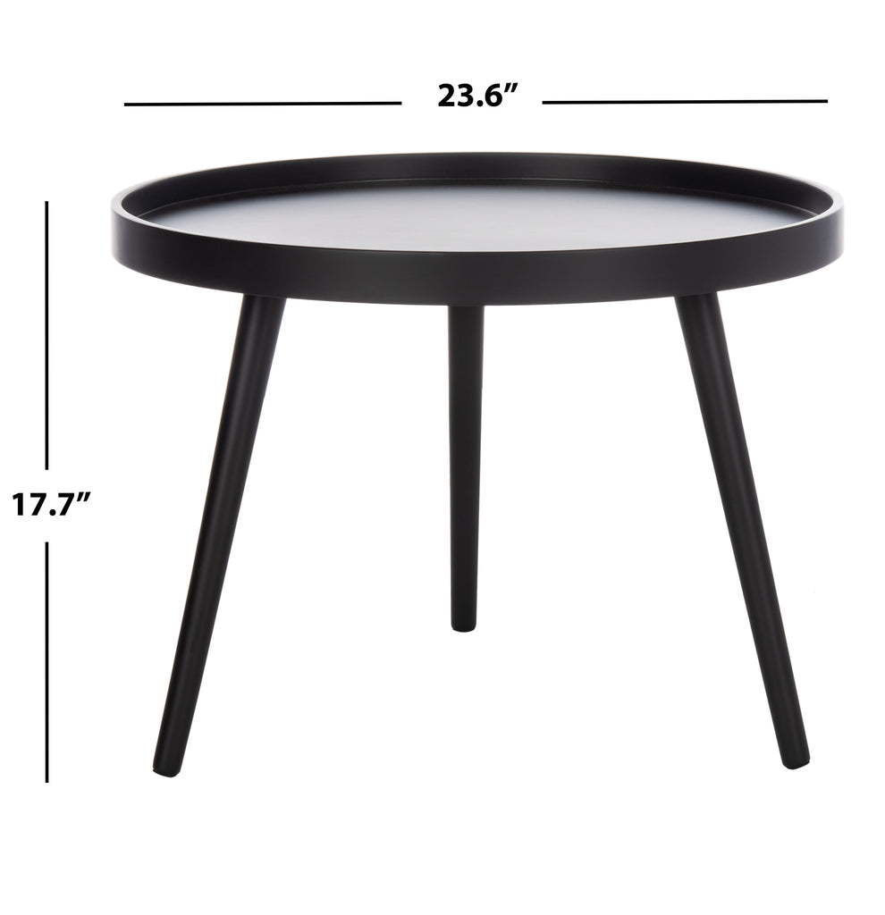 Safavieh Fritz Round Tray Side Table in Black ACC4204A 889048767089