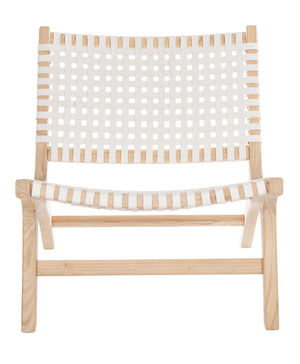 Safavieh Luna Accent Chair in White and Natural ACH1002A 889048745674