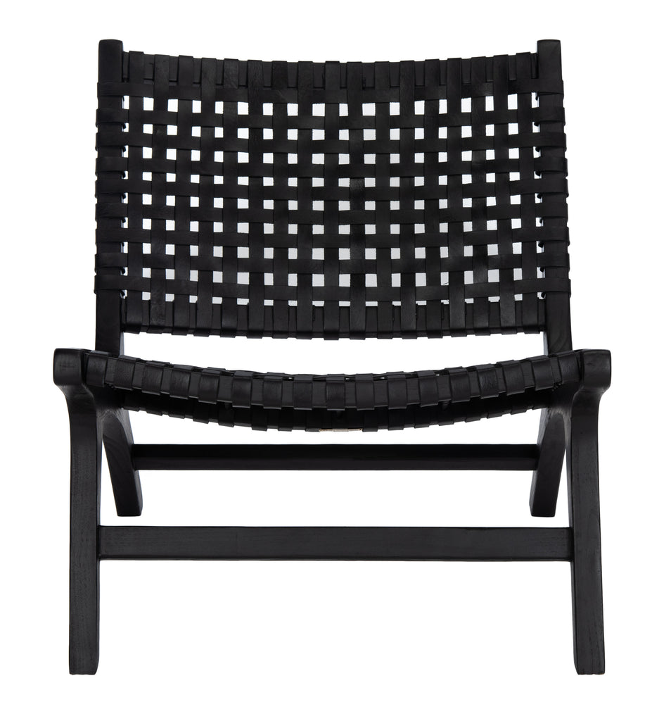 Safavieh Luna Accent Chair in Black and Black ACH1002D 889048745704