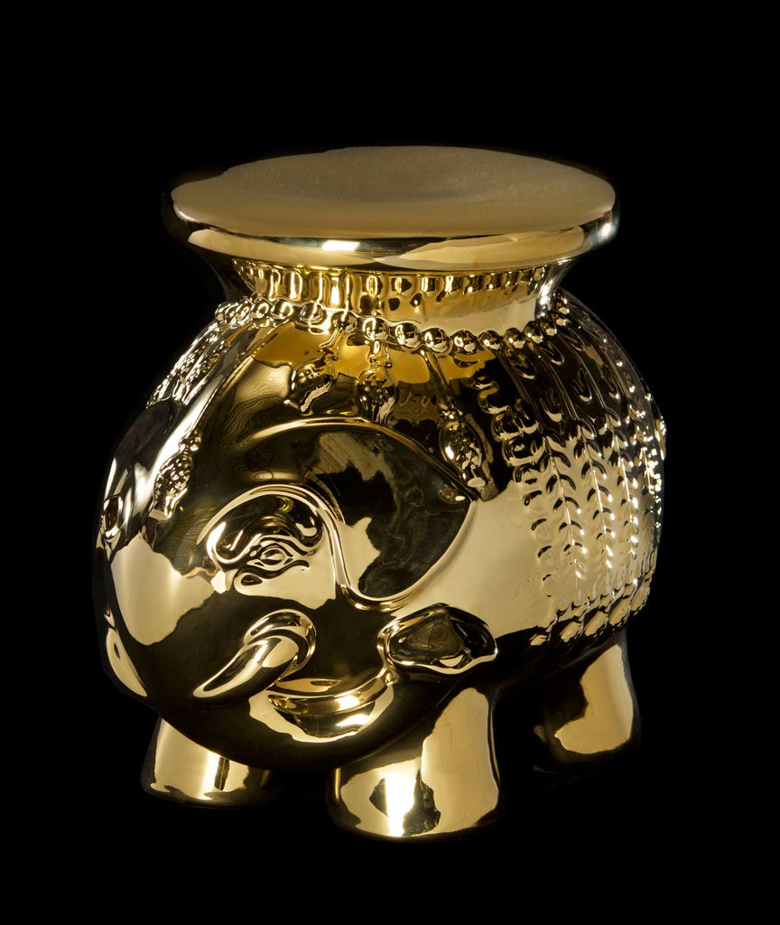 Safavieh Stool Elephant Gold Ceramic ACS4501D 683726468486 (4533888516141)