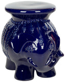 Safavieh Stool Elephant Navy Ceramic ACS4501F 683726421931 (4533888516141)
