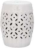 Safavieh Garden Stool Lattice Coin White Ceramic ACS4510A 683726420989 (4536874008621)