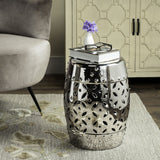 Safavieh Garden Stool Lattice Coin Sliver Ceramic ACS4510E 683726421023 (4536874008621)