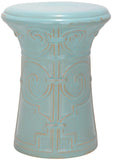 Safavieh Imperial Garden Stool Scroll Light Blue Ceramic ACS4521C 683726422105 (4536876630061)