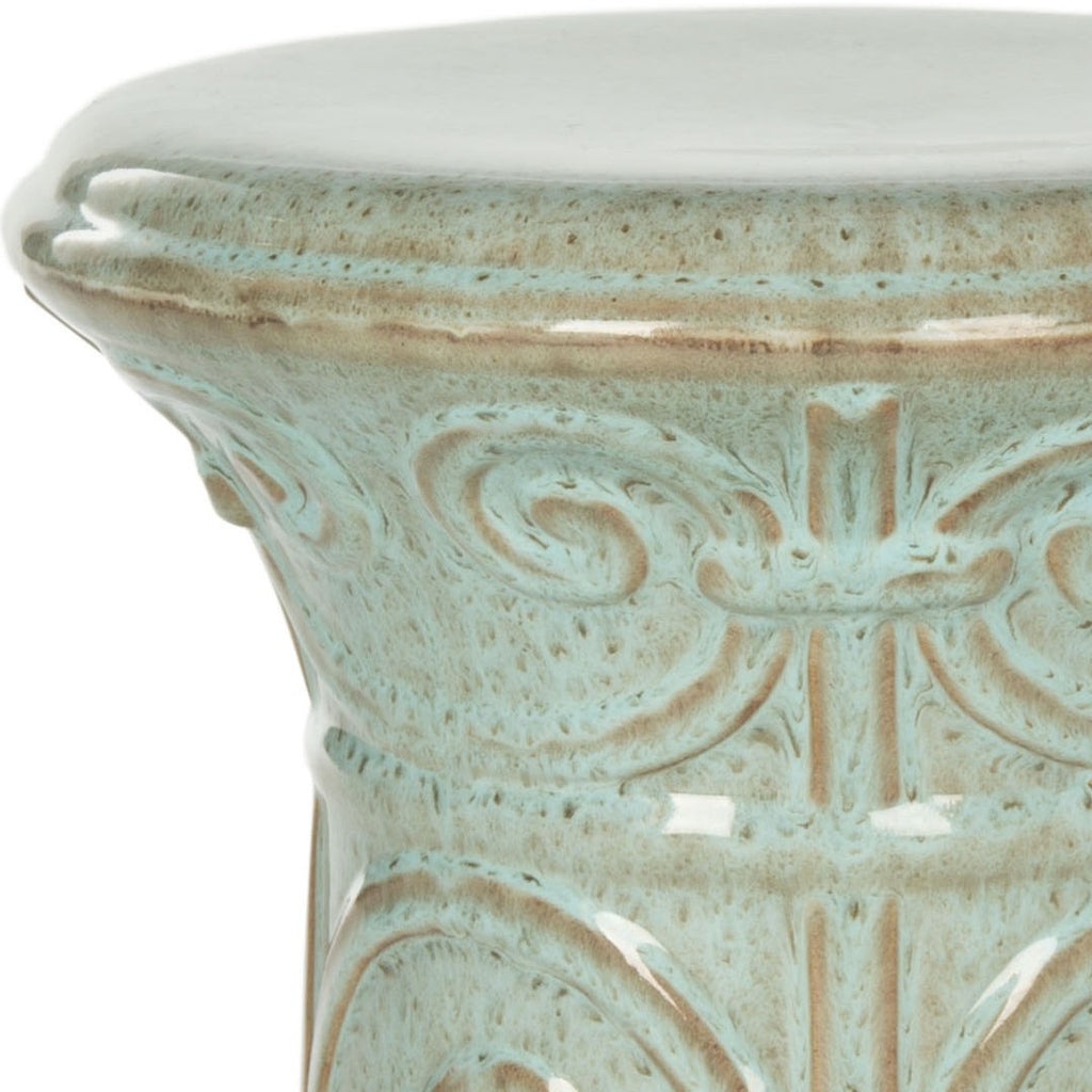 Safavieh Imperial Garden Stool Scroll Blue Ceramic ACS4521D 683726703112 (4536876630061)