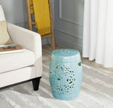 Safavieh Flora Garden Stool Blue Ceramic ACS4527C 683726317463