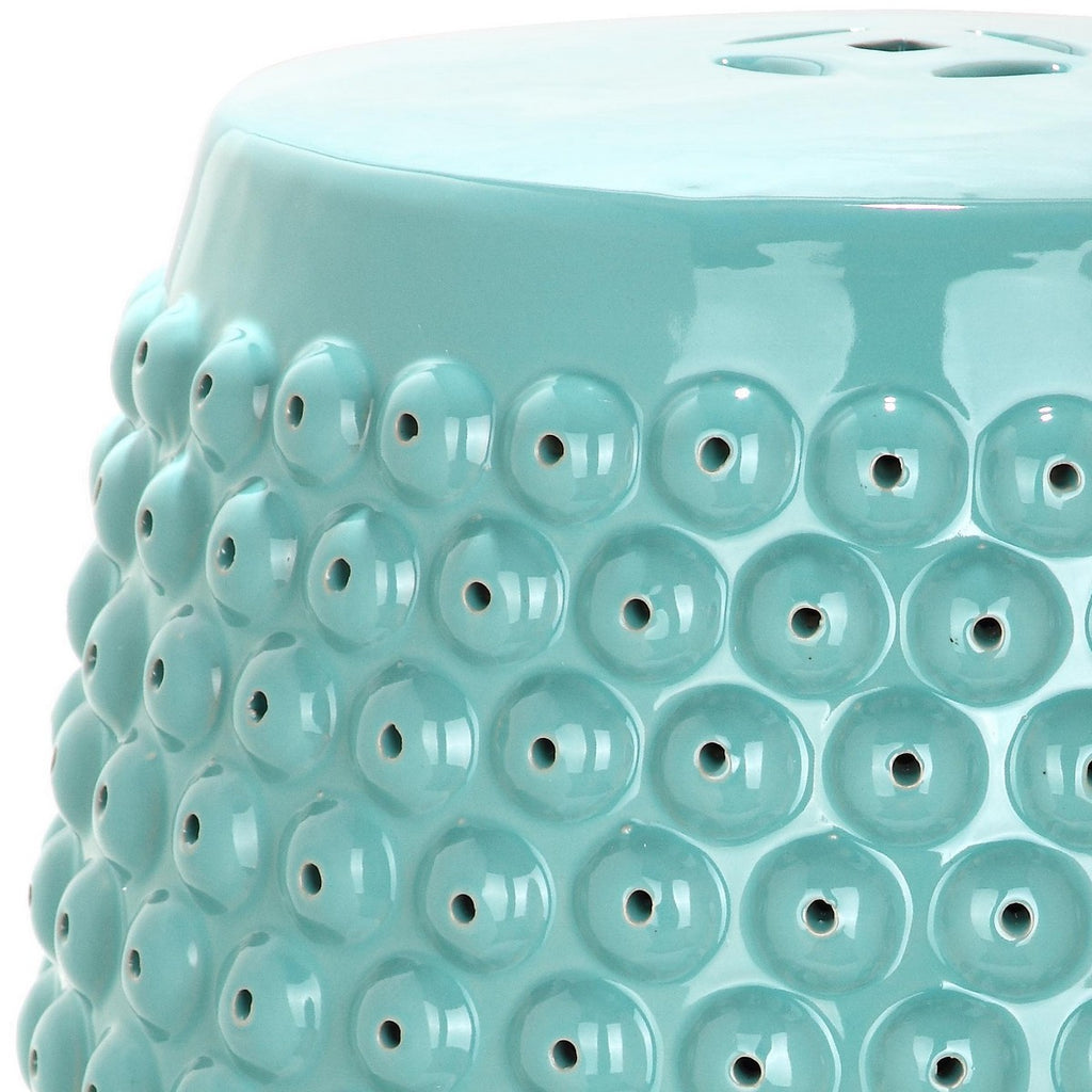 Safavieh Stella Stool Nail Head Light Blue Ceramic ACS4530C 683726318361