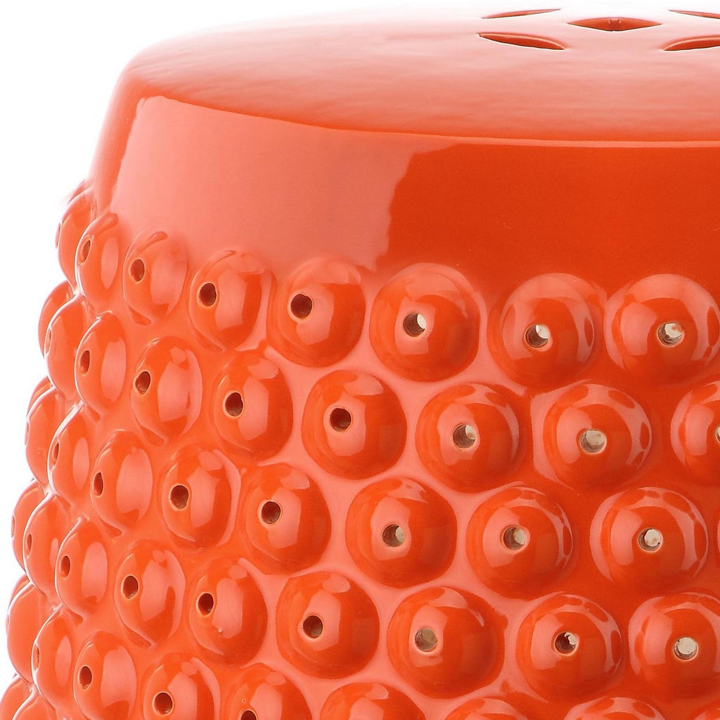 Safavieh Stella Stool Nail Head Orange Ceramic ACS4530D 683726318378