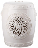 Safavieh Garden Stool Flower Drum Cream Ceramic ACS4532B 683726321569