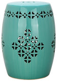 Safavieh Quatrefoil Garden Stool Light Blue Ceramic ACS4535C 683726322894