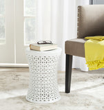 Safavieh Camilla Garden Stool White Ceramic ACS4550A 683726329473