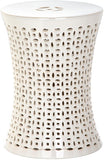 Safavieh Camilla Garden Stool Cream Ceramic ACS4550B 683726329480