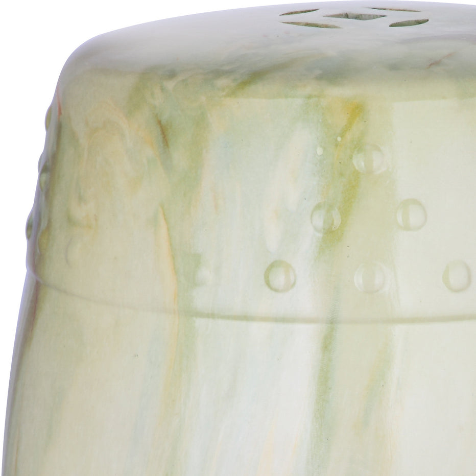 Safavieh Jade Swirl Garden Stool in Green Marble Finish ACS4551C