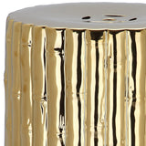 Safavieh Garden Stool Bamboo Gold Ceramic ACS4553A 889048096905