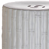 Safavieh Garden Stool Bamboo White Ceramic ACS4553B 889048096943