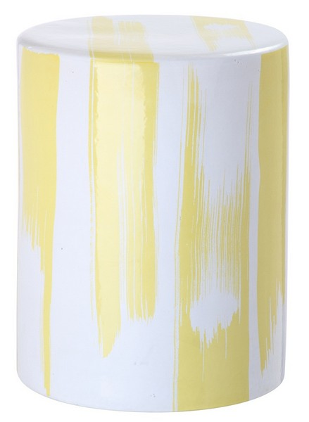 Safavieh Talon Garden Stool Yellow Ceramic ACS4560C 889048207899