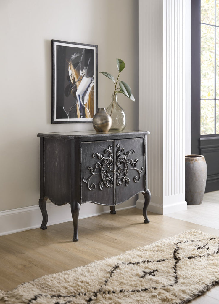 Hooker Furniture Woodlands Traditional-Formal Two-Door Chest in Poplar and Hardwood Solids with Flat Cut Primavera, Eglosmise and Resin 5820-50002-98