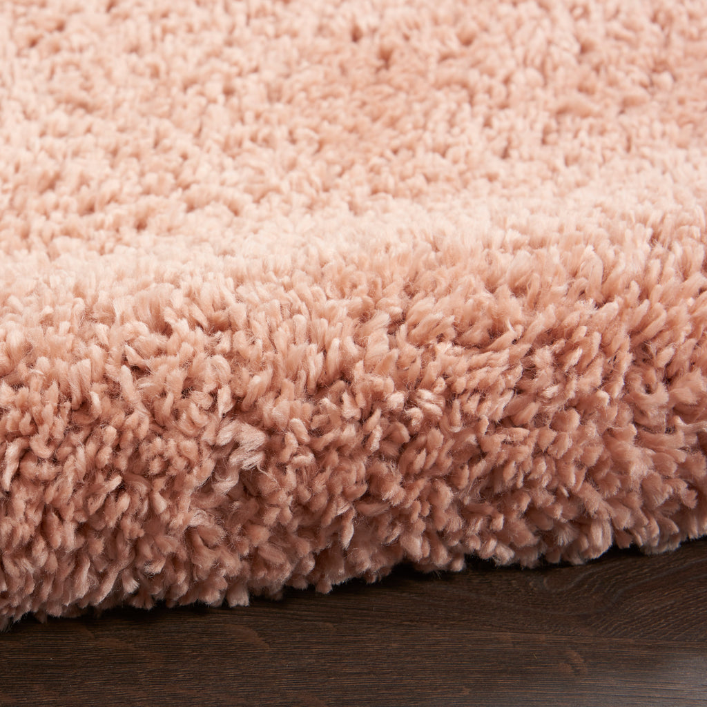 "Malibu Shag MSG01 Power-loomed 100% Polypropylene Blush 7'10"" x  SQU Square Rug"