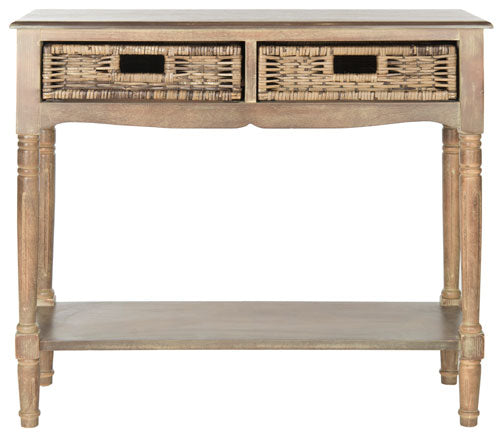 Safavieh Corbin Console Washed Natural Pine Wood Water Based Paint MDF Veneer AMH5716B 683726134077