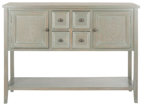 Safavieh Charlotte Sideboard Storage French Grey Wood NC Coating Elm Pine ZiNC Alloy AMH6517E 683726662723