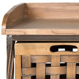 Safavieh Isaac Storage Bench Oak Elm Wood+Mdf/Ca Foam AMH6530E 683726708575