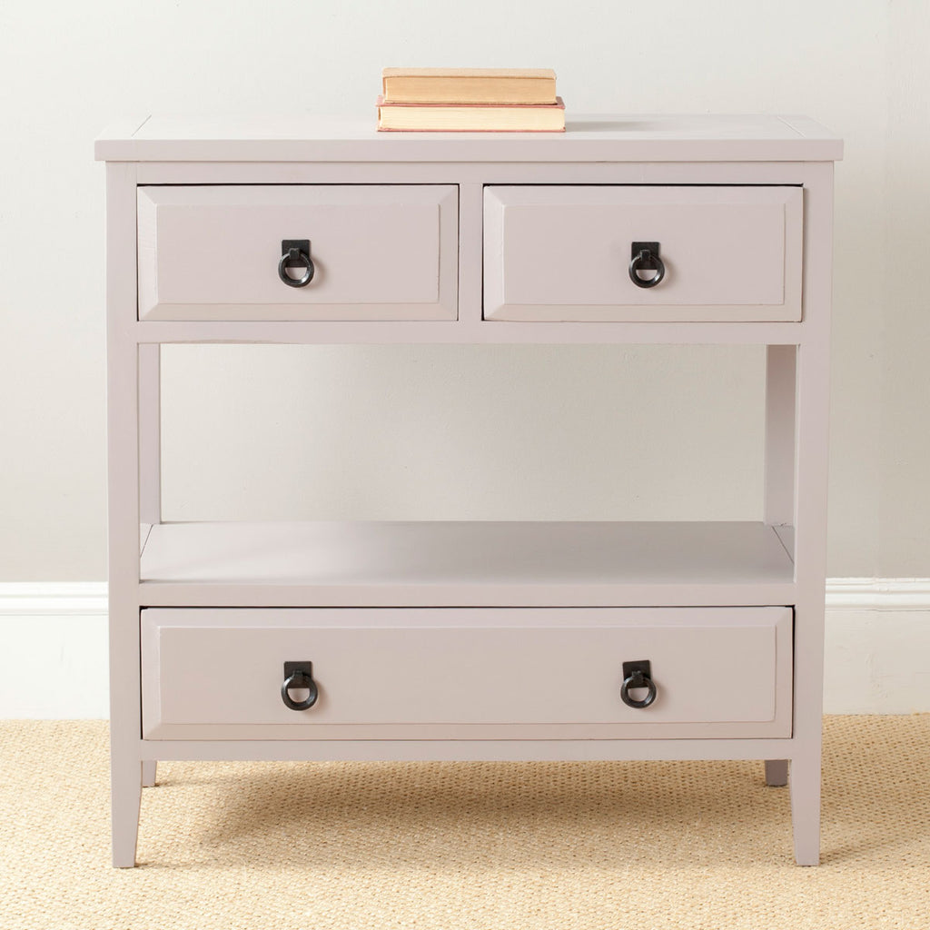 Safavieh Branson Sideboard 3 Drawer Quartz Grey Wood NC Coating Pine Aluminum AMH6540C 683726265085