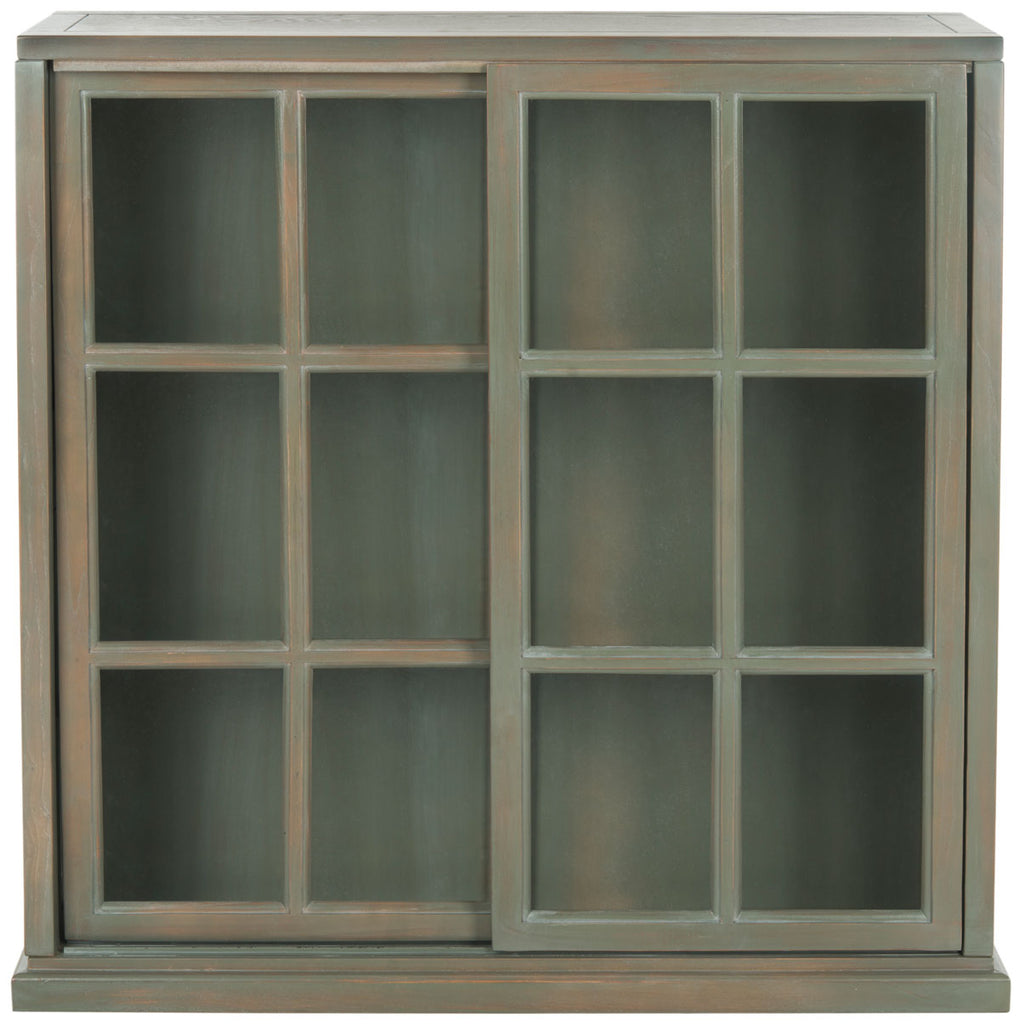 Safavieh Greg3 Bookcase French Grey Wood NC Coating Elm AMH6570C 683726328315