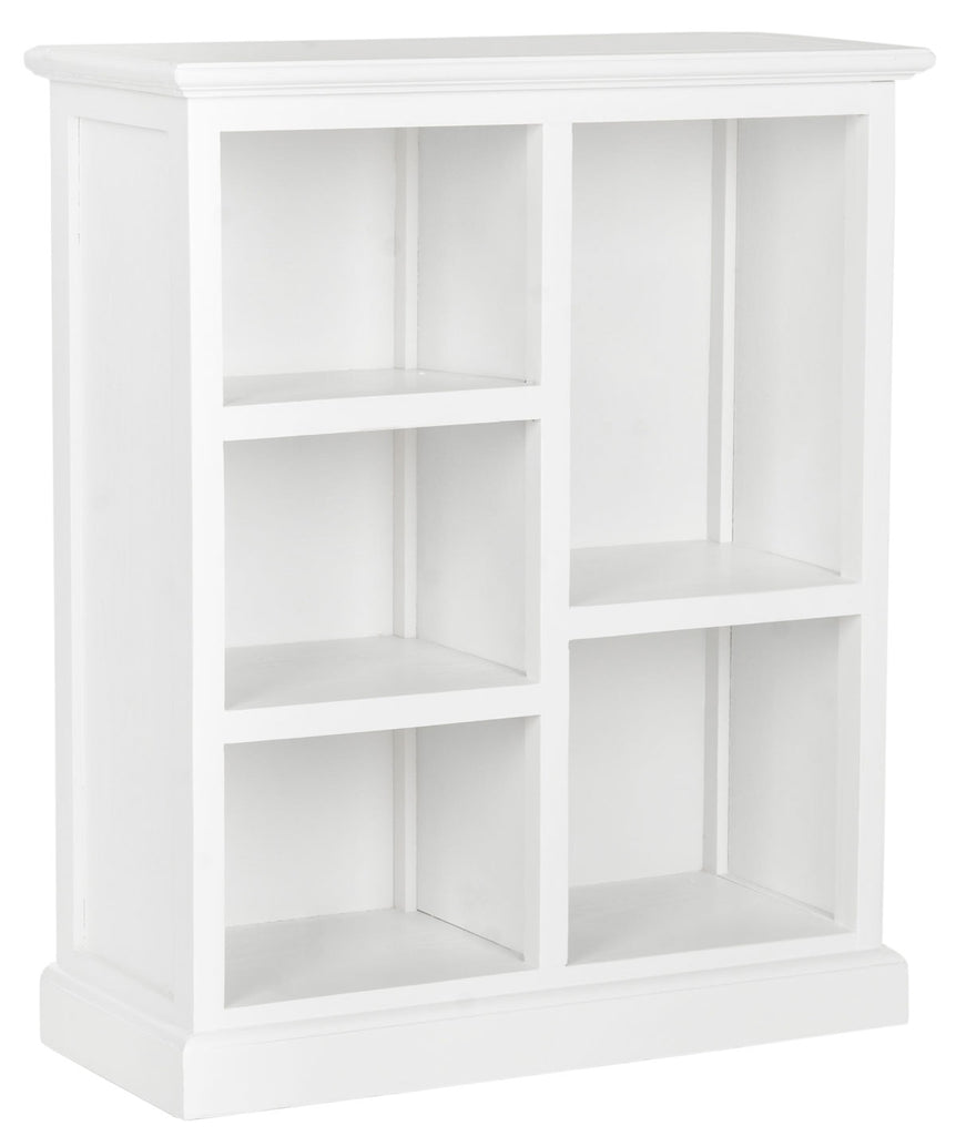 Safavieh Maralah Bookcase White Wood NC Coating Poplar AMH6634B 683726262343