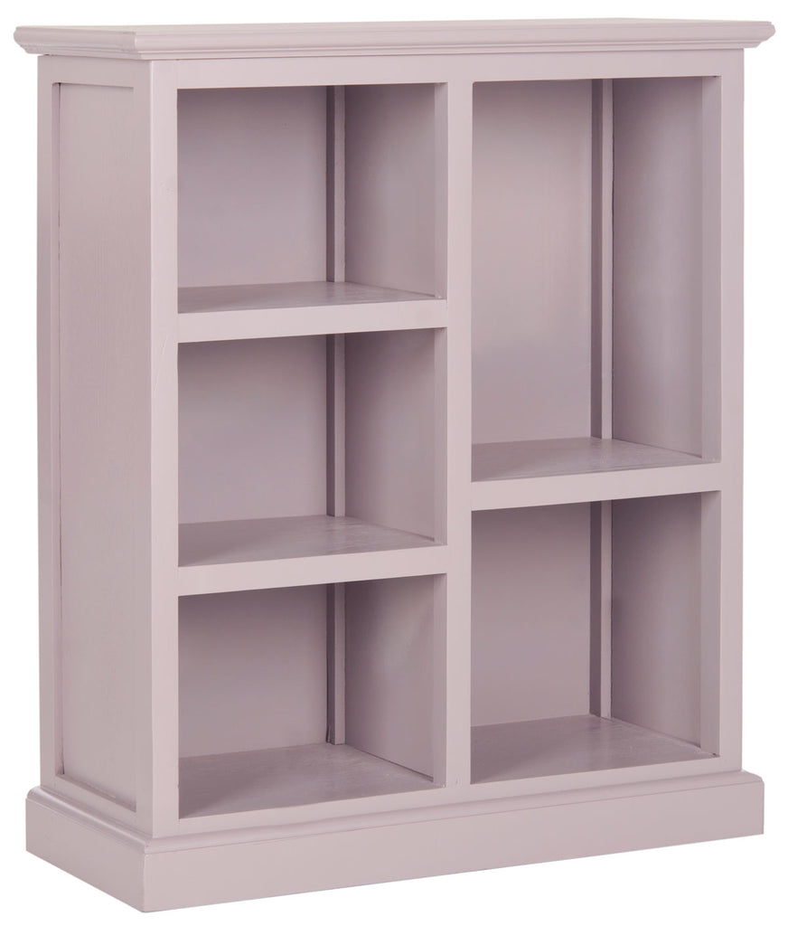 Safavieh Maralah Bookcase Quartz Grey Wood NC Coating Pine AMH6634C 683726262756